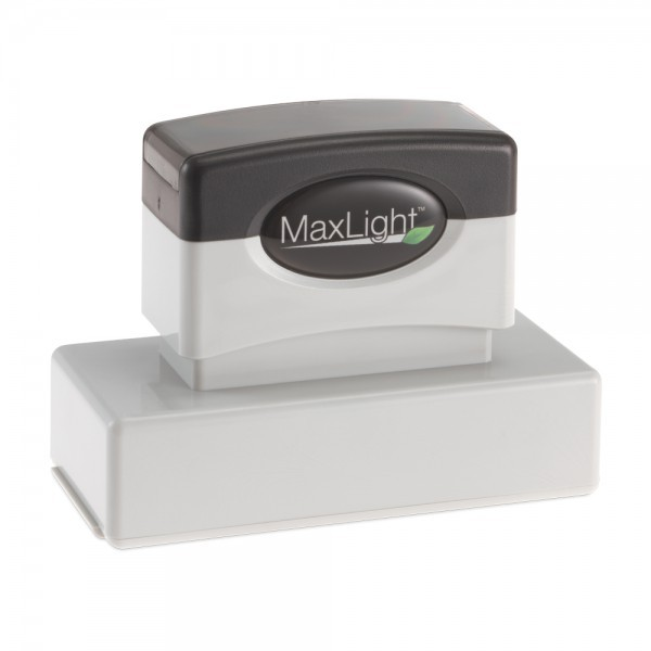 """Our Arkansas notary stamp uses the approved layout for the State of Arkansas. The MaxLight XL2-185 pre-inked stamp has a maximum text plate size of 1-1/16"""" x 2-7/8 """" allowing you to create up to 5 lines of customized text. The XL2-185 is perfect for creating notary stamps. Keep your stamp clean, and your work area free of ink with the easy snap on dust cover. This MaxLight pre-inked stamp feature an indelible ink and offers thousands more impressions than a comparable self-inking stamp. Runn..."""