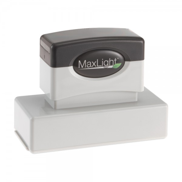 """Our Alaska notary stamp uses the approved layout for the State of Alaska. The MaxLight XL2-185 pre-inked stamp has a maximum text plate size of 1-1/16"""" x 2-7/8 """" allowing you to create up to 5 lines of customized text. The XL2-185 is perfect for creating notary stamps. Keep your stamp clean, and your work area free of ink with the easy snap on dust cover. This MaxLight pre-inked stamp feature an indelible ink and offers thousands more impressions than a comparable self-inking stamp. Running ..."""